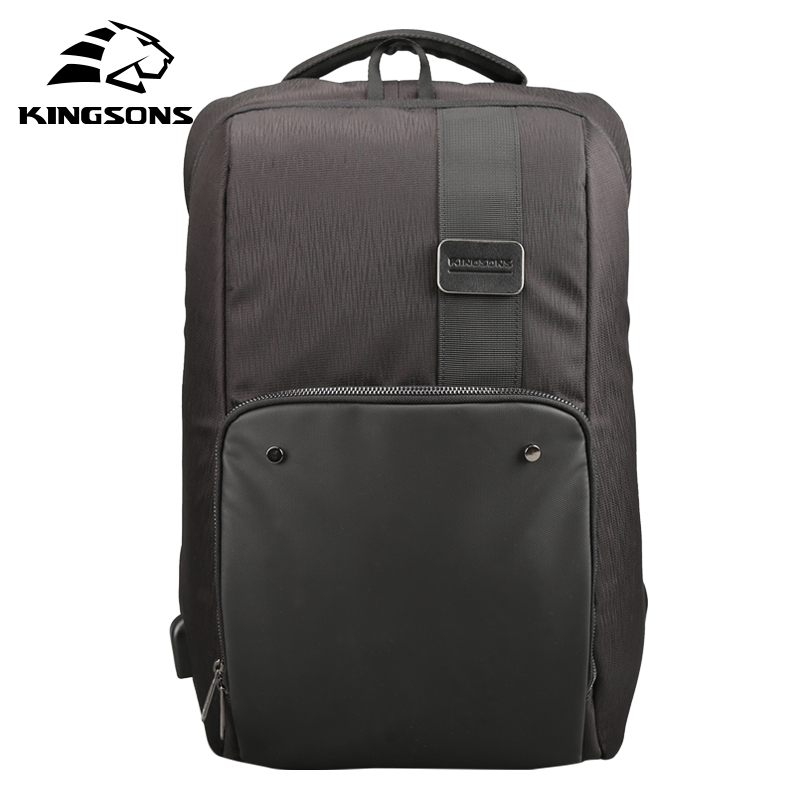 Kingsons Multifunction USB Charging Men 15 17 Inches Laptop Backpacks For Teenager Fashion Male Mochila Leisure Travel Backpack men backpack student school bag for teenager boys large capacity trip backpacks laptop backpack for 15 inches mochila masculina