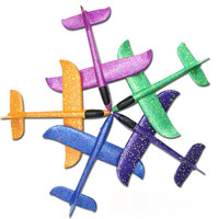 40pcs 30*35cm Kids Small Airplane Toy Hand Throwing Foam Plane Model TY0371