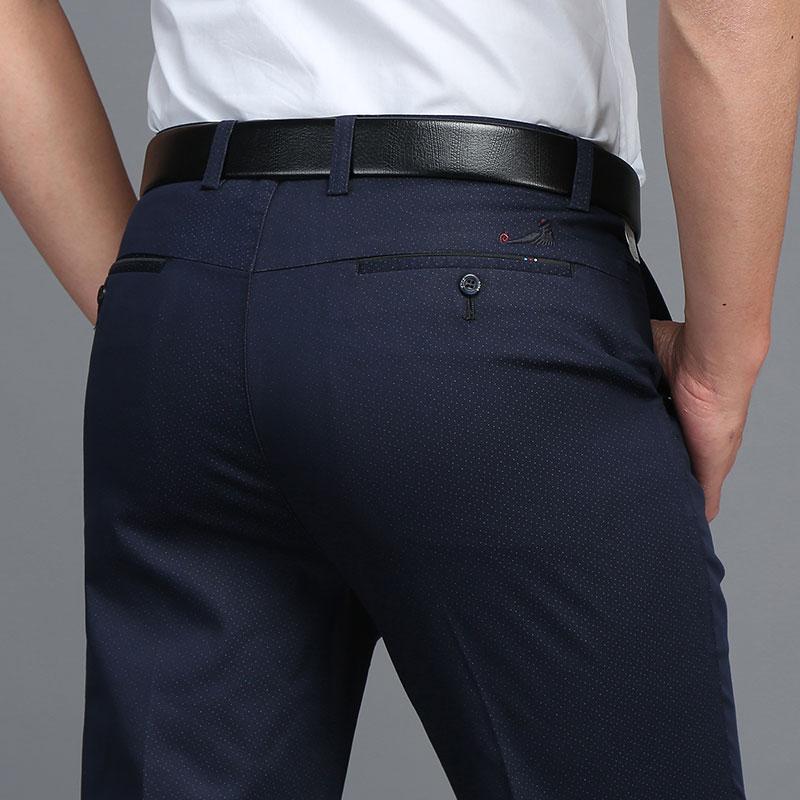Brand 2017 Fashion Summer Casual Pants Men Slim Fit Long Straight Man Trousers Plus Size 29-38 Soft Men Pants