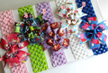 20pcs/lot Baby Bow Snow White sofia crochet Bowknot Headband Infant Hair Clip Accessories Girl Toddler hair band Christmas Gift