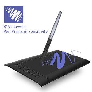 Image 4 - Huion H610プロV2 10X6.25inグラフィック描画タブレットデジタルペン絵画錠チルト機能打者の送料とエクスプレスキー
