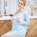 Brand Summer Thin Long Sleeve Cotton Woman Home Pregnancy Maternity Nursing Clothes Breastfeeding Women's Clothing