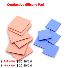 30x30x6pcs 20x20x5pcs Thermal Pad GPU CPU Heatsink Cooling Conductive Silicone sheets for motherboard/computer host/Notebook