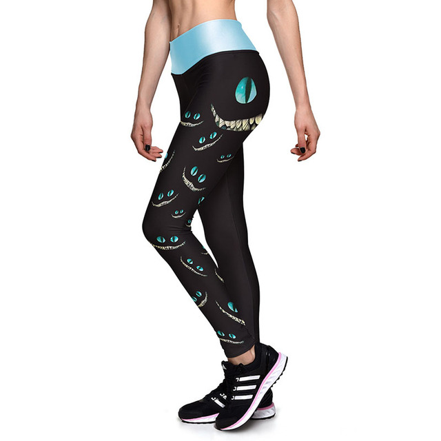 Hot Sales! 3D Print Sporting Leggings Women Cat Eyes Printed Fitness Pants Legging Leggigns Plus Size 16 Styles Workout Clothes