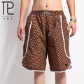 New men fashion casual plaid  beach  Loose big yards   board shorts beach shorts shorts S16  Fitness Bodybuilding