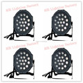 4pcs/lot Free&Fast Shipping Flat DMX Par LED 19pcs 3W RGB 3/7 Channels