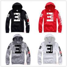 2018 de los hombres de la moda sudaderas con capucha de lana Eminem impreso  carta espesar Jersey manga larga Sudadera con capuch. 3f1344f00a7