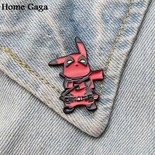 Homegaga Deadpool pikachu Zinc Cartoon Pins for men women para Shirt Charm insignia Clothes backpack medal Badges Brooches D1814