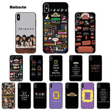 Babaite Central Perk Coffee friends tv show  Black Soft Shell Phone Cover for Apple iPhone 8 7 6 6S Plus X XS MAX 5 5S SE XR