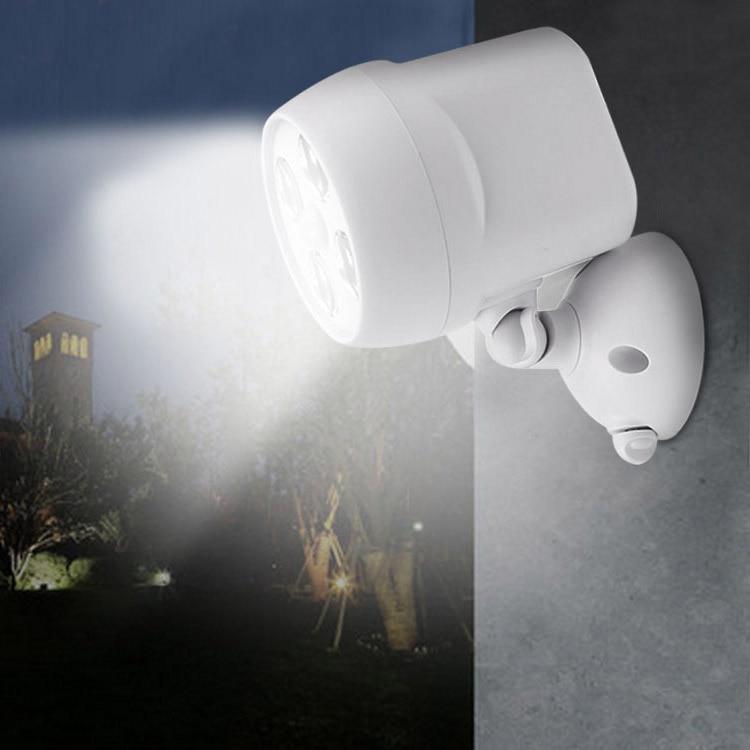 4LEDs Motion Sensor Light IP65 Waterproof Outdoor Lights Security Lamp for Wall Garden Driveway JDH99