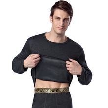 Mode dicke warme samt thermische underwear männer winter lange unterhosen luxus unterhemd und hosen druck winter kleidung h1007