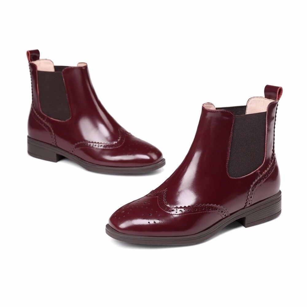 Glissement Matin Sur 2018 Arden Plat Nouvelle Black burgundy Furtado Cheville Chelsea Chaussures Cuir De Femmes Bottes Mode Printemps Boot Pour Femme Véritable UaaTwqgE4x