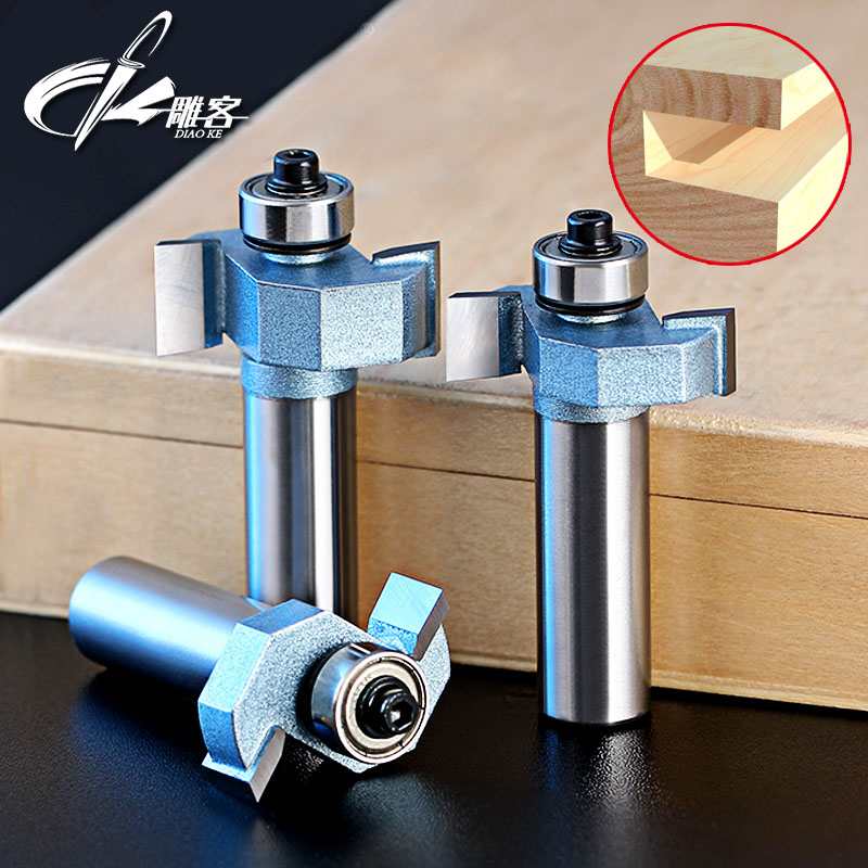 1pc 1/2 SHK T type bearings wood milling cutter woodwork carving tools wooden router bits 1pc 1 2 7 8 woodworking cutter cnc engraving tools cutting the wood router bits 1 2 shk