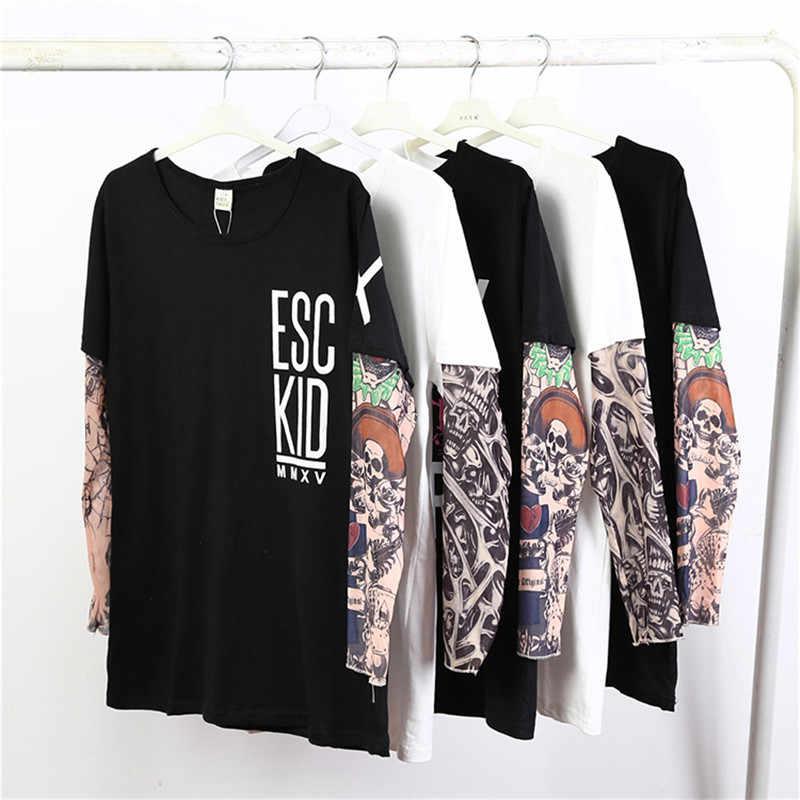 6a95c179d 2019 de bebé de moda y papá ropa de algodón Camiseta con manga del tatuaje  camisetas