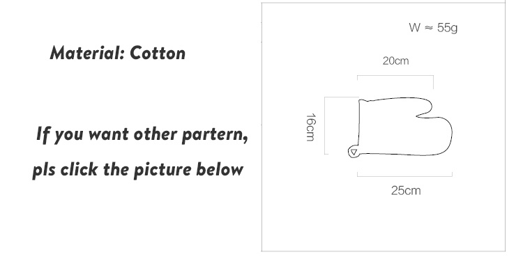 Cotton Heatproof Oven Gloves