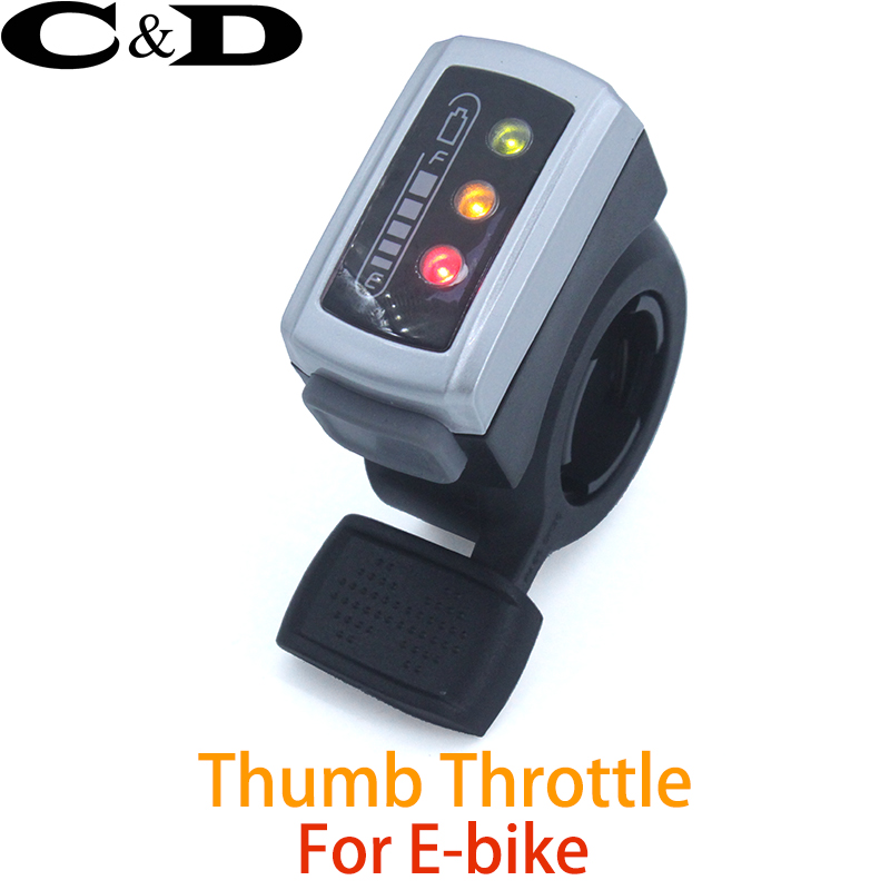 Rohs 36v 106dx E-bike Bicycle Scooter Motorcycle Finger Throttle Both-way Thumb With Battery Power And On-off Switch Electric Vehicle Parts