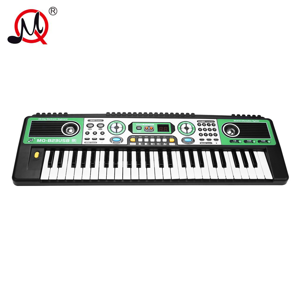 49 key electronic keyboard piano kids musical instrument learning and developing digital display. Black Bedroom Furniture Sets. Home Design Ideas