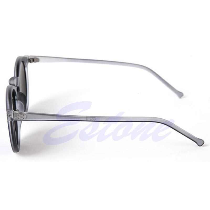 النساء الرجال جولة الإطار المعدني عدسات عاكسة القطط العين النظارات الشمسية للجنسين