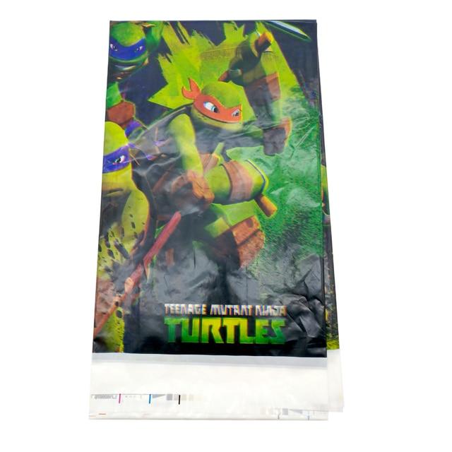 1 PCS Feliz Aniversário Meninos Favores Tablecover Plástico Tartaruga Ninja Mapas Temáticos Partido Do Chuveiro Do Bebê Toalha de Mesa Decorar Eventos Suprimentos