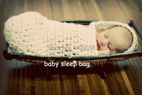 Baby cocoon photo prop sleep sack White color