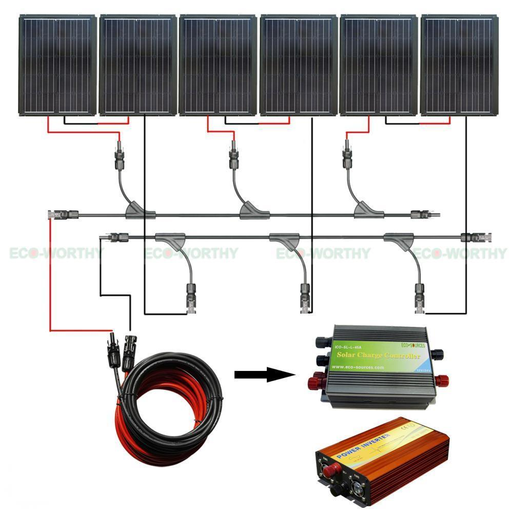 90W Mono Power Solar Panel & 45A Controller 1KW Inverter for Car Yacht RV Boat