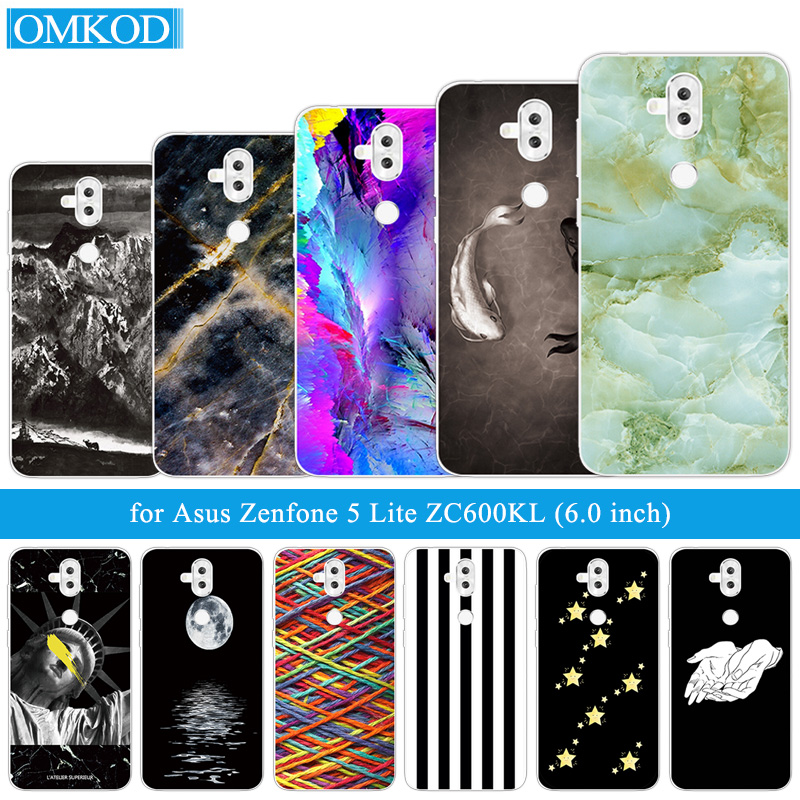 6.0 inch for Asus Zenfone 5 Lite ZC600KL Phone Fish Cover Back Full Protective Cases for Asus ZF5Q X017D Silicone Coque