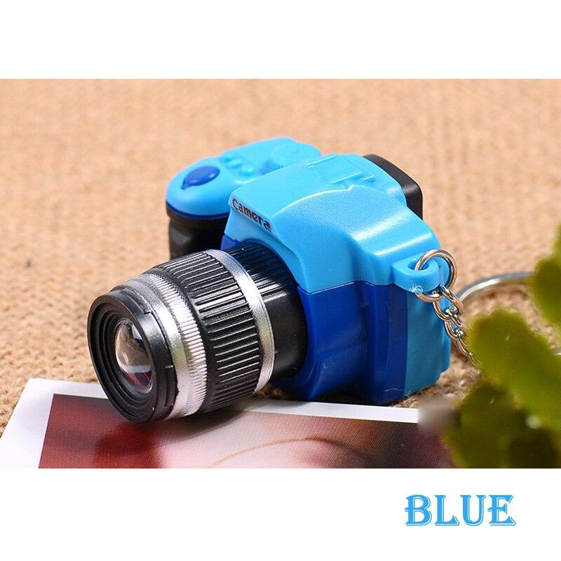 Светодиодная камера мигающая игрушка для детей цифровой брелок с камерой светящийся звук вспышка светильник Подвеска сумка Аксессуары Детская игрушка - Цвет: Синий