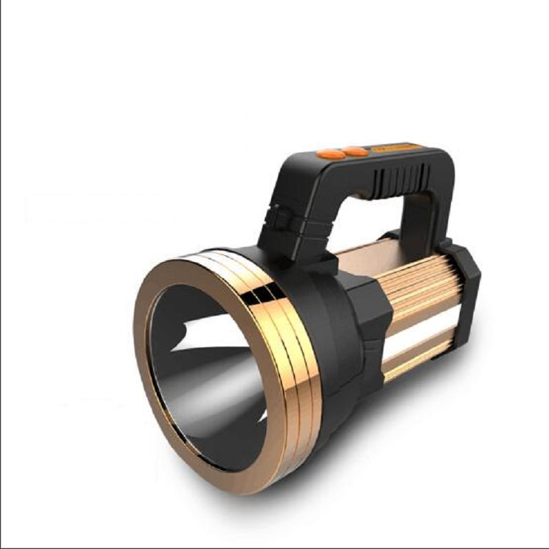 Multi-fonction rechargeable projecteur LED forte lumière main torche super lumineux extérieur étanche lumière de secours explosion-pr