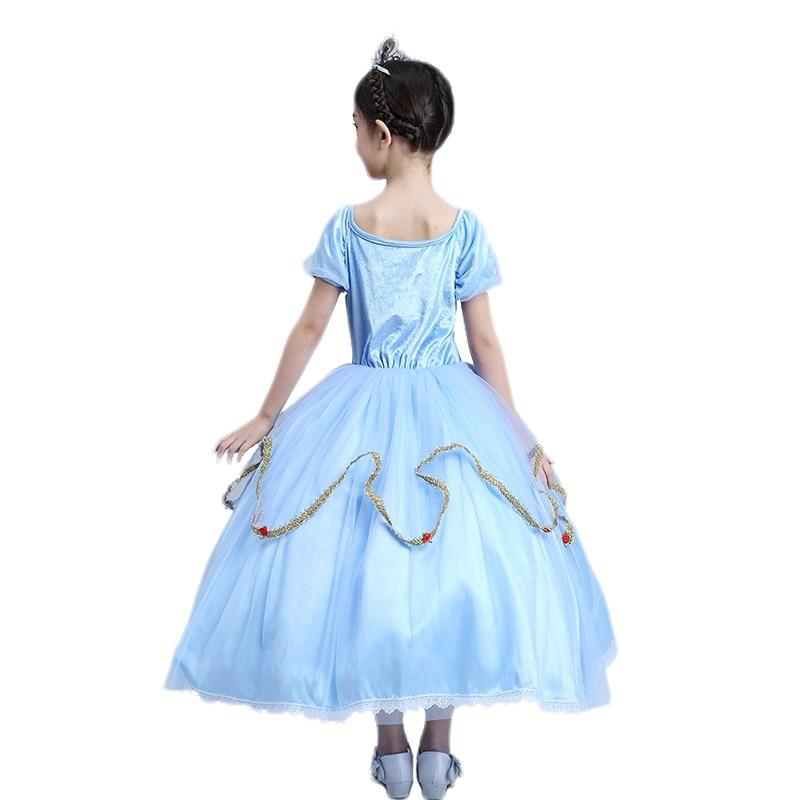 ФОТО Ankle-Length Children 's Princess Dress Halloween Costume For Kids Ball Gown Girls Dresses Long Sleeve Performance Clothing