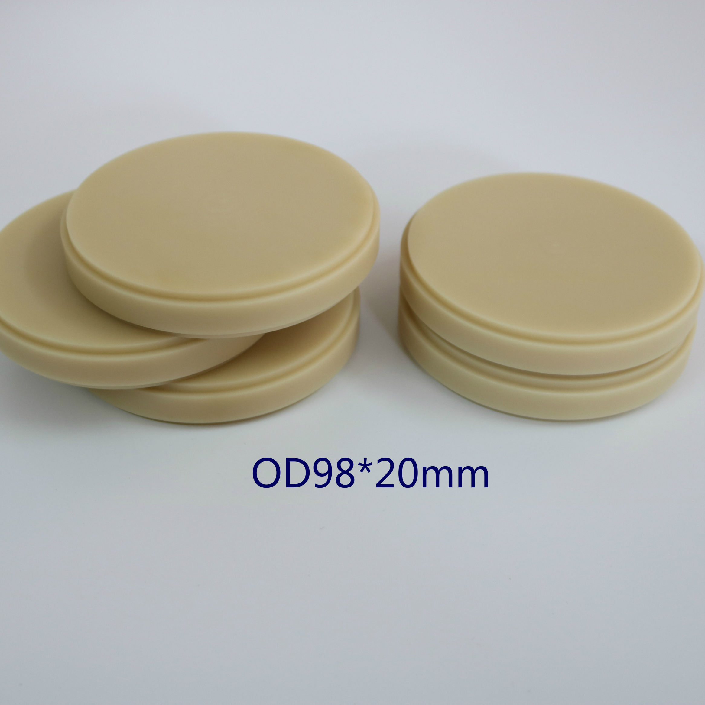 Dental PMMA Discs Blank Denture Materials Blocks 5pcs/lot OD98x20mm for Open CADCAM System