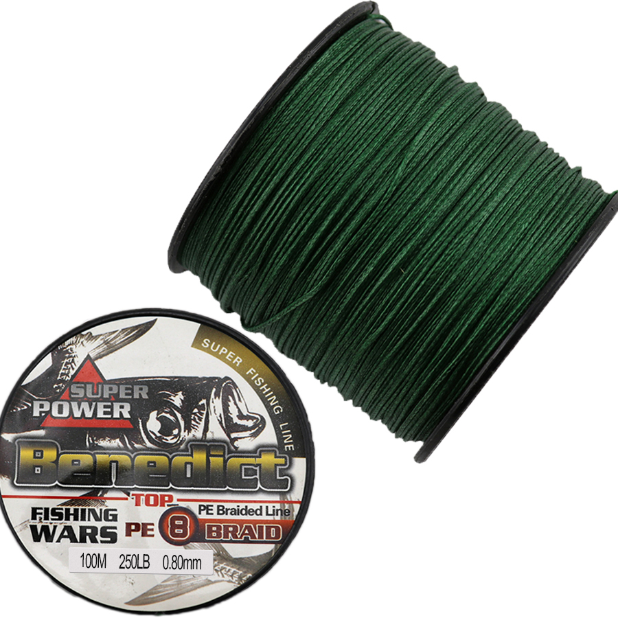 100M pesca supper fishing accessories lines 0.68-0.80mm multifilament fishing line sea 8 strands fishing rope 150-250LB