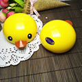 Free Shipping Cartoon Rubber Duck Dual Contact Lens Case Container contact lens mate box Glasses case mirror Gift idea 8087
