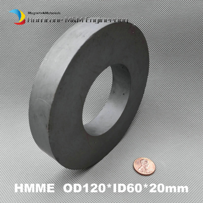 8 pcs Ferrite Magnet Ring OD 120x60x20 mm 4.7 large grade C8 Ceramic Magnets for DIY Loud speaker Sound Box board home use