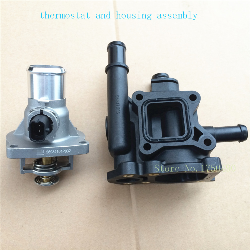 Thermostat and thermostat housing Assembly case 55578419 ...