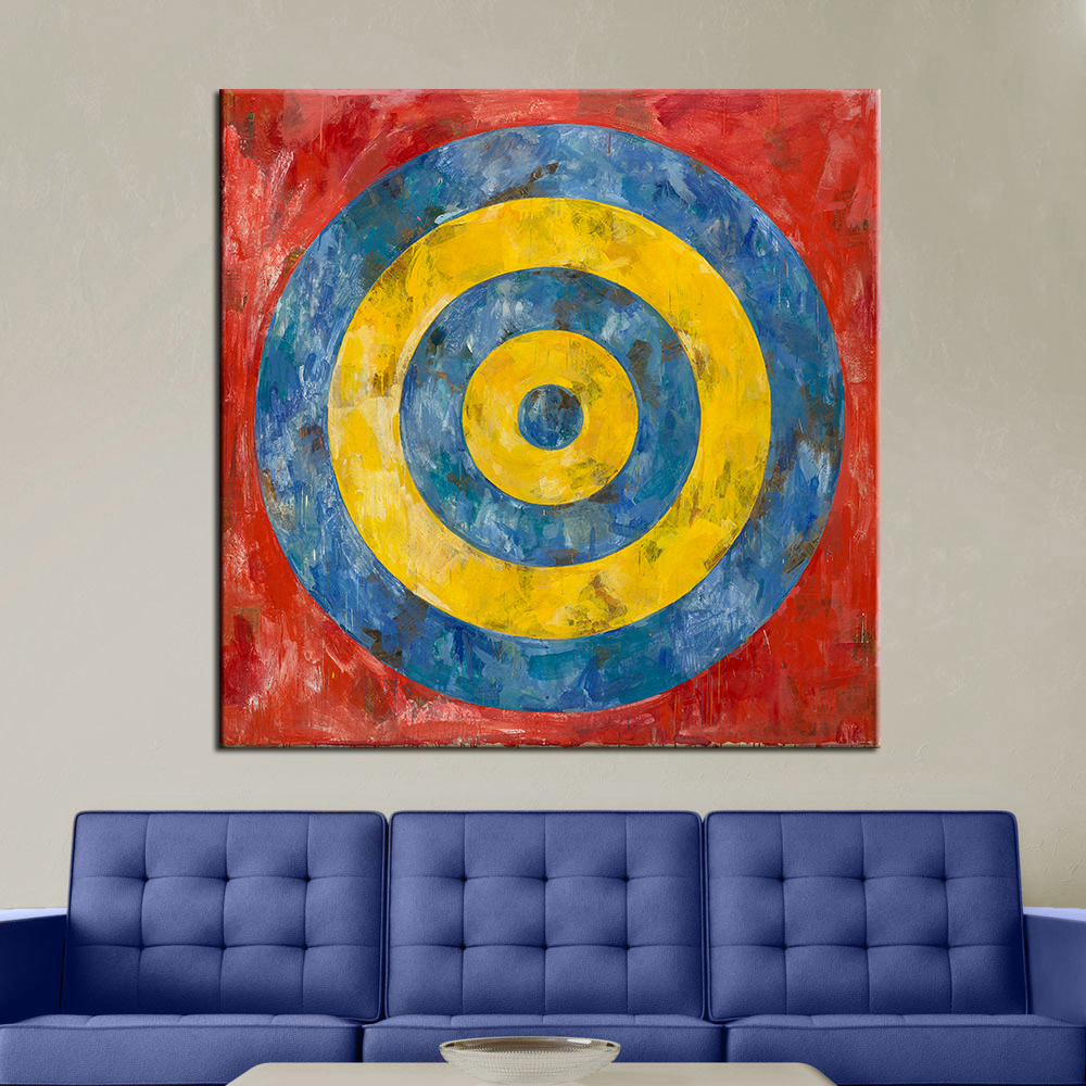 qkart wall art modern abstract oil painting target print on canvas