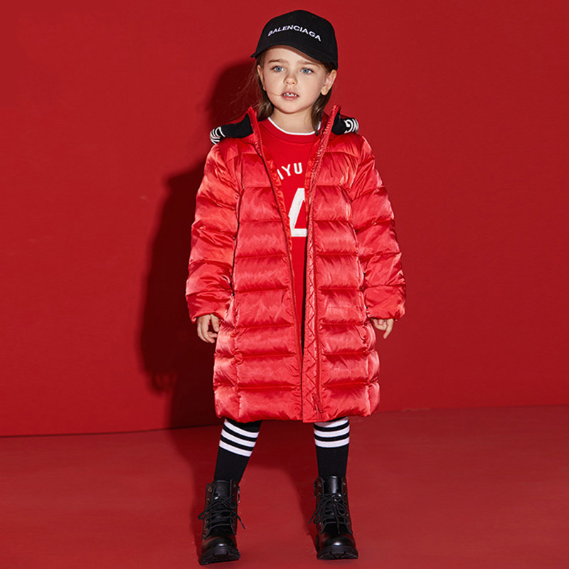 2017 Cute Baby Girls Winter Clothes Kid's Down Jacket Thick Warm Clothing Fashion Boutique Coat for Sisters Age2345678 Years old russia winter boys girls down jacket boy girl warm thick duck down