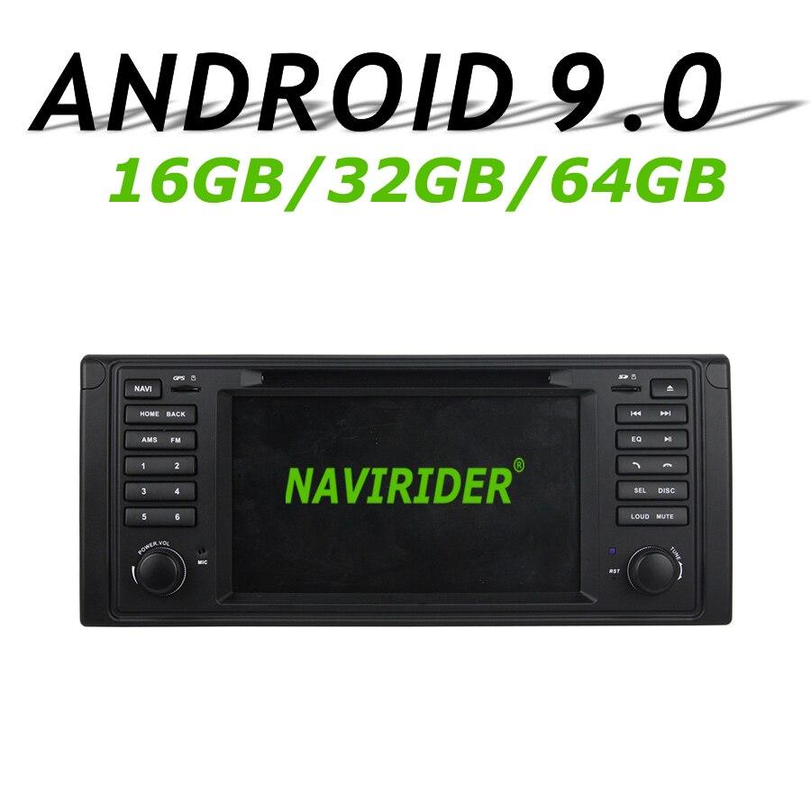 Haute configuration Octa Core Android 9.0 voiture GPS multimédia pour BMW E39 1995-2003 DVD autoradio bluetooth 64 GB grande mémoire