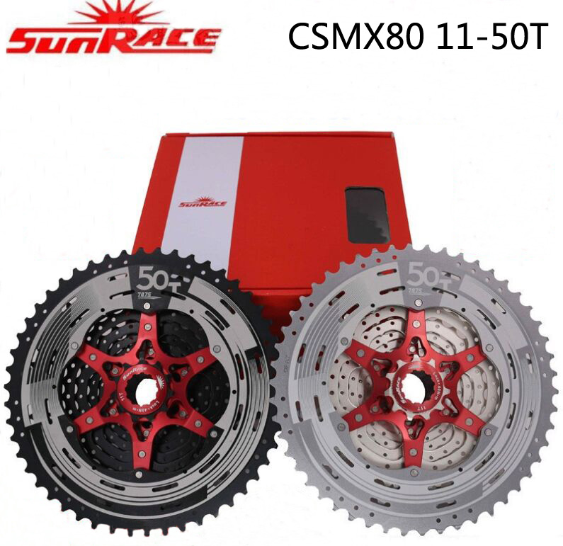 SunRace 11 speed Bicycle Freewheel Cassete SunRace CSMX80 11-50T MTB Bike Freewheel different to 9 10 hot selling 2018 цена 2017