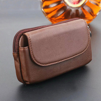 Zipper Man Belt Clip 100 Genuine Cow Leather Mobile Phone Belt Clip Case For Xiaomi Mi