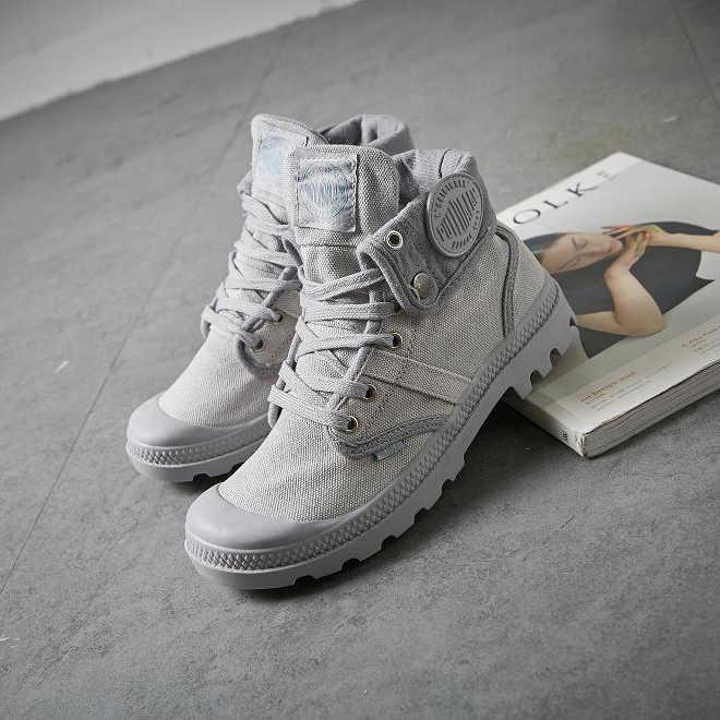 JCHQD 2019 Mode High Top Sneakers Leinwand Schuhe Frauen Casual Schuhe Weiß Flache Weibliche Korb Spitze Up Solide Trainer Chaussure