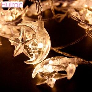 Image 3 - HUIRAN EID Mubarak Led Light Strip Star Led Lights Decor EID Party Supplies Ramadan Decor Muslim Islam Party Decor Eid Al Adha
