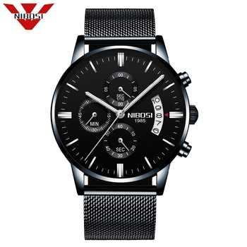 NIBOSI Luxury Mens Watches Quartz Ultra Thin Clock Male Waterproof Sporty Fashion Watch Men Casual Wristwatch Relogio Masculino - DISCOUNT ITEM  39% OFF All Category