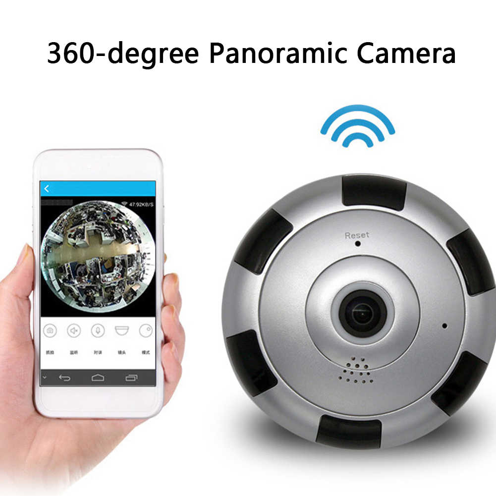Wireless Home Safety Audio Intelligent Camera 360° Panoramic DIY HD Recorder Wireless Video Night Vision WIFI Security  Alarm