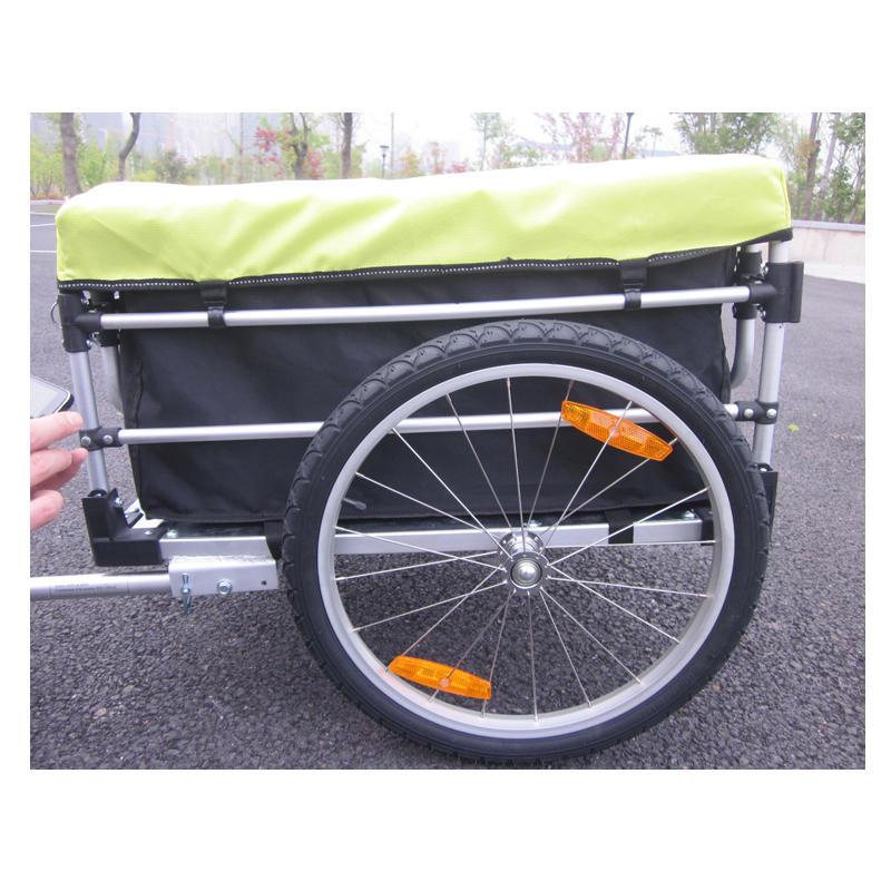 20 дюймов велосипед Грузовой Чемодан Трейлер с дождевик, алюминиевый сплав рамы велосипеда трейлер, Чемодан корзину, горный велосипед трейл...