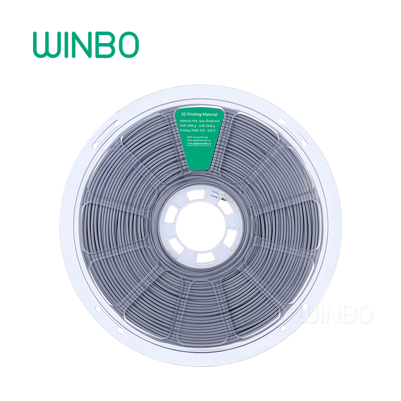 3D Printer PLA filament 3mm 3 kg GRAY Winbo 3D plastic filament Eco-friendly Food grade 3D printing materials Free Shipping 3d printer filament brown colour environmentally friendly plastic materials for 3d printer
