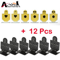 12Pcs Set Metal Tactical Pistol Gun Shooting Practice Target Airsoft Hunting Shooting Aim Target Set