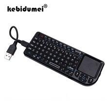 2.4g rf 3 em 1 mini handheld qwerty espanhol/russo/inglês mini teclado sem fio com touchpad mouse para computador portátil smart tv