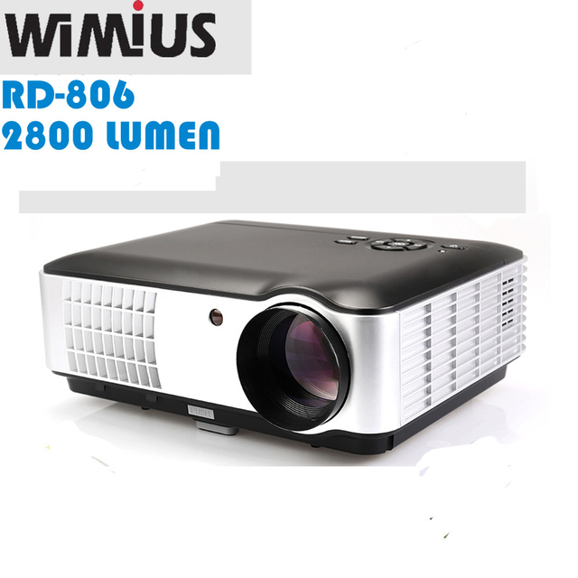 "Wimius 5.8 ""TFT LCD RD-806A Full HD 1080 P de Vídeo TV Projecteur LED ATV/DVB-T Home Proyectores HDMI/USB/VGA/AV Beamer 2800 Lúmenes"