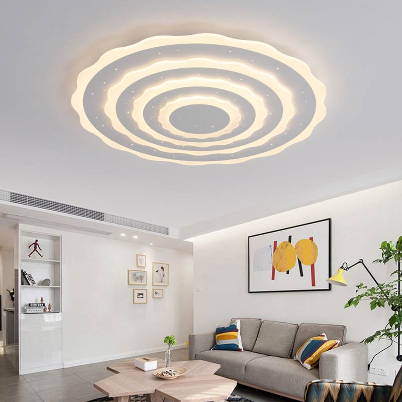 Acrylic Led Ceiling Light With Remote Control Modern Living Room Bedroom Kitchen Big Lamp Decor Home Lighting Fixtures Lustre acrylic led ceiling light with remote control fixtures modern living room bedroom kitchen lamp decor home lighting dimming 220v