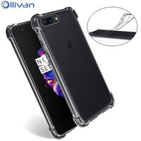 10pcs Lot Wholesale Oneplus 5 Case Original Shockproof Silicone TPU Transparent Full Protection Cover One Plus